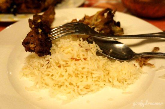 Karena restoran India, makannya pun nasi Briyani.